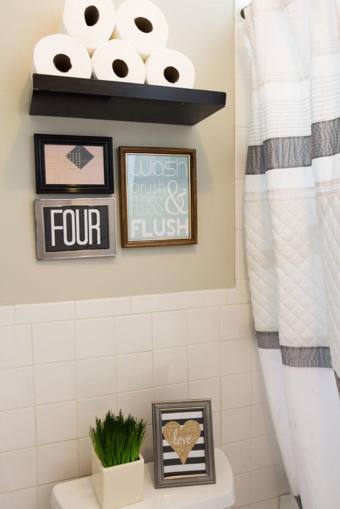 Home Decor, Easy bathroom update, cheap bathroom update, fast bathroom update, bathroom printables