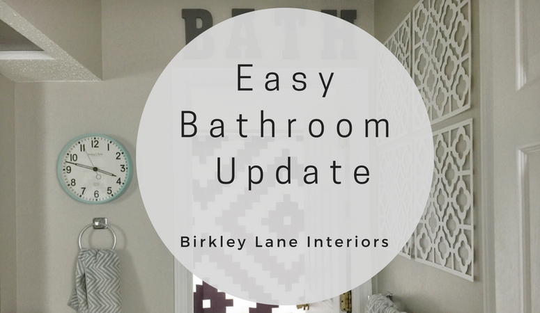 Our Easy Bathroom Update