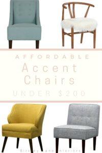 Remarkable 7 Affordable Accent Chairs Under 200 Birkley Lane Interiors Customarchery Wood Chair Design Ideas Customarcherynet