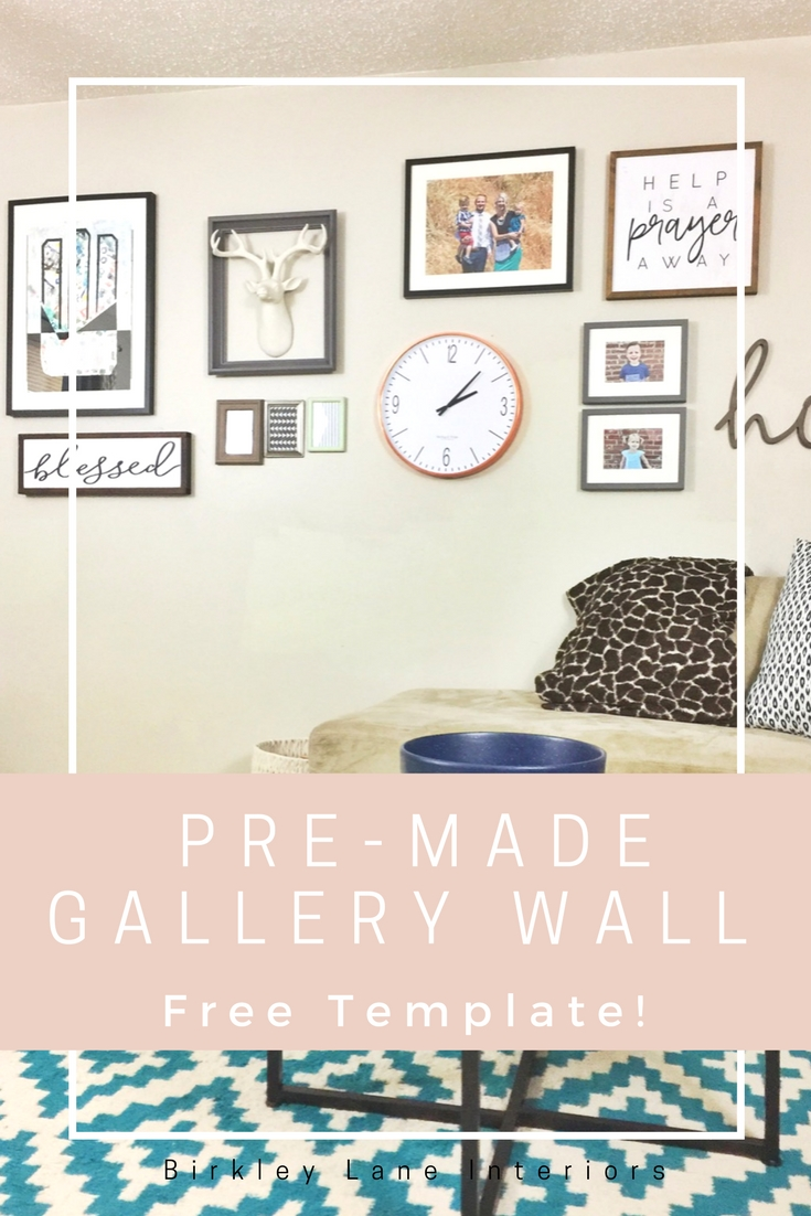 The pre made gallery wall birkley lane interiors for Wall templates for hanging pictures