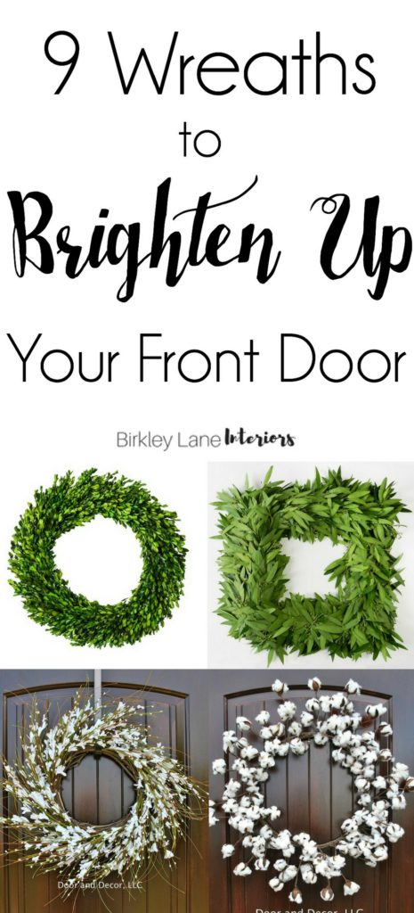It's the perfect time to brighten up your front door! Take a look at these nine beautiful wreaths, each for under $100! Good luck picking a favorite! Wreaths for front door, Beautiful wreaths, Fresh wreaths, Wreaths, Wreath ideas, Front door ideas, Front door decor