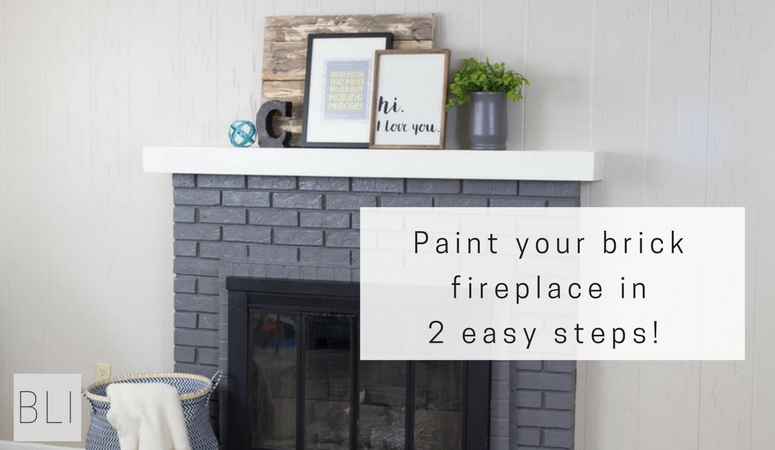 Give your room a makeover and paint your brick fireplace in 2 easy steps! Click here for before and after pictures with easy to follow directions!