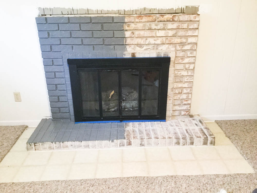 Paint Your Brick Fireplace In 2 Easy Steps Birkley Lane Interiors