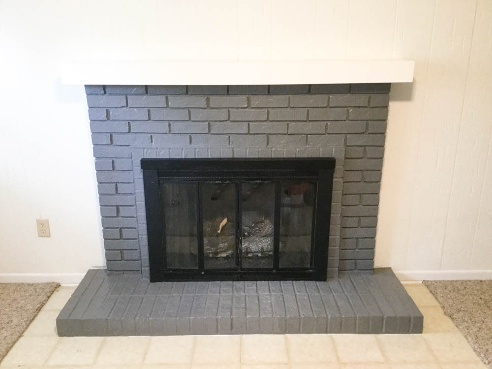 Paint Your Brick Fireplace in 2 Easy Steps! | Birkley Lane Interiors