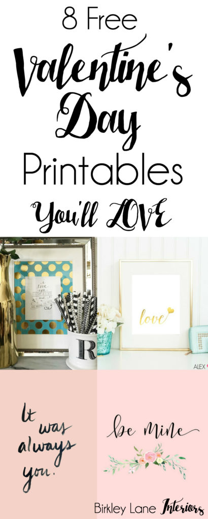 Free valentine's day printables, valentine's day decor, valentine's day decorations, free valentines printables, free love printables