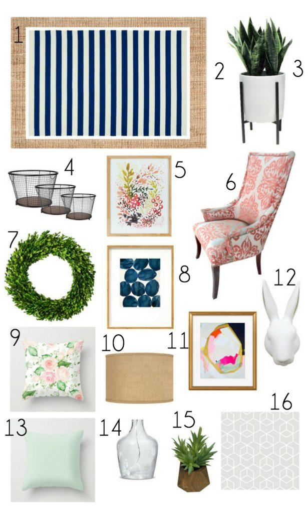 Spring Decor Mood Board Birkley Lane Interiors All Things Home