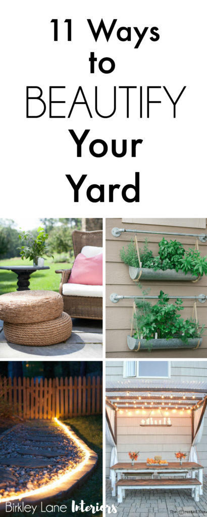 Are you ready for warmer weather? That means time spent outside! Click here for 11 amazing outside decor ideas and beautify your yard! Outdoor decor, outdoor decor ideas, outdoor patio ideas, outside decor, porch decorating, decorate outside of house front porches, decorate outdoor patio, yard decorations, decorate yard