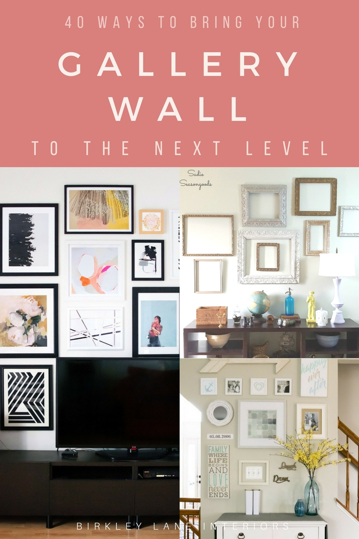 The BEST gallery wall ideas are just a click away!  Gather tons of inspiration to help you plan a gallery wall in your own home: whether it's behind a couch, on a staircase or around your tv, you'll get some great ideas on how to decorate your living room walls! #gallerywall #walldecor #homedecor #decoratingideas