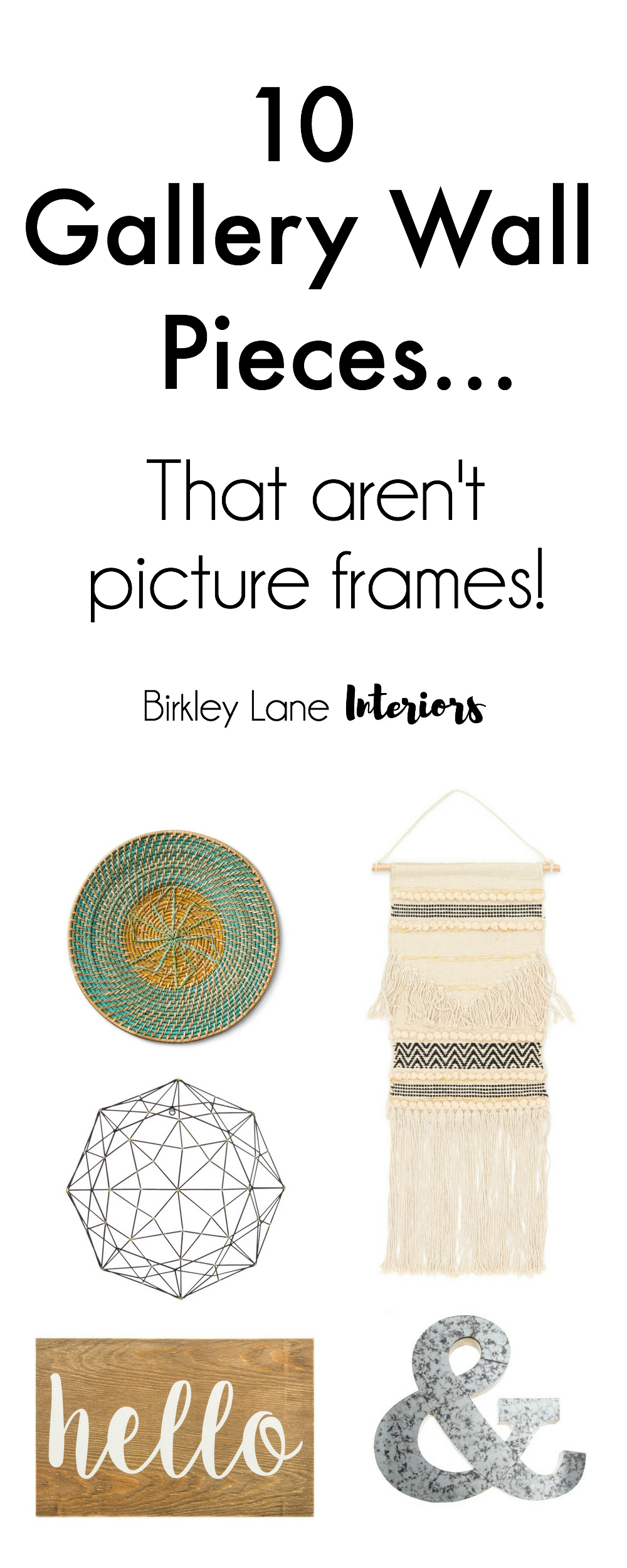 Change up your gallery wall with these 10 gallery wall pieces that aren't picture frames! They will add texture and dimension to your wall that you'll love!