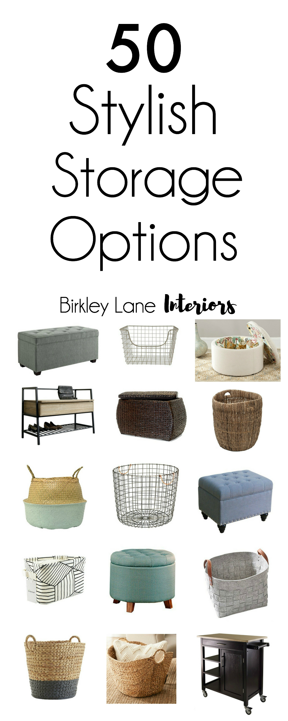 You can be organized and stylish at the same time with these fifty stylish storage options for your home! Click here for ideas for every room in your home! Storage ideas, storage ideas for small spaces, storage ideas for bedrooms, storage bench, storage solutions, stylish storage, organization, organization ideas for the home, organizing ideas, organizing, stylish storage solutions, stylish storage ideas