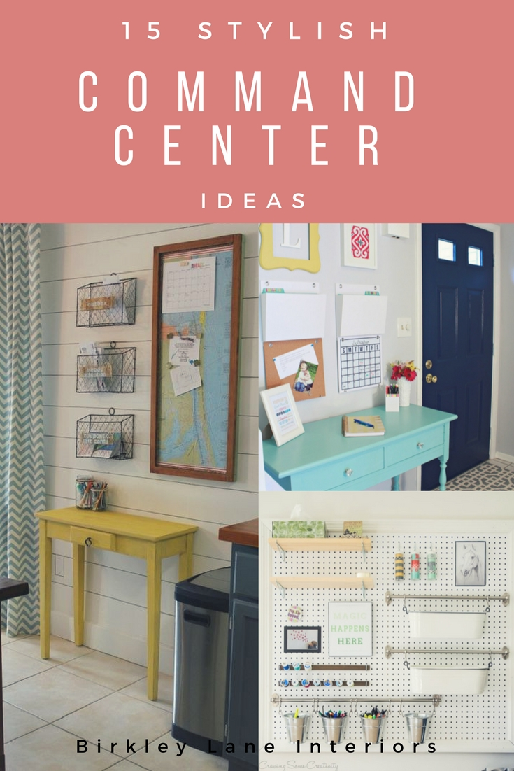 Organize your life and create a stylish family command center! Click here for 15 beautiful command center ideas that'll get your inspiration juices flowing!
