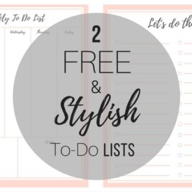 FREE Stylish To Do List (Plus a BONUS!)
