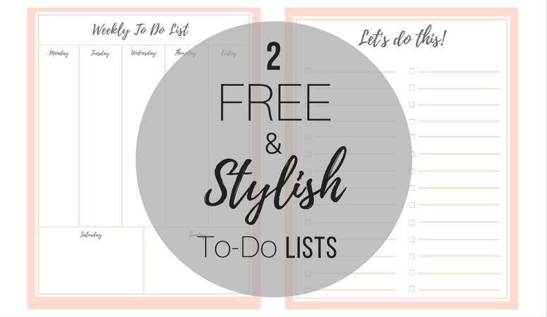 free stylish to do list  plus a bonus