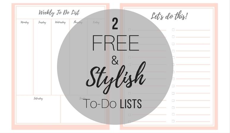FREE Stylish To Do List (Plus a BONUS!)