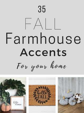 Your ULTIMATE shopping guide for fall farmhouse accessories! Asking yourself how to decorate for fall? It's easy to get the fall farmhouse style in your home with these 35 decorating ideas. Let's get started!