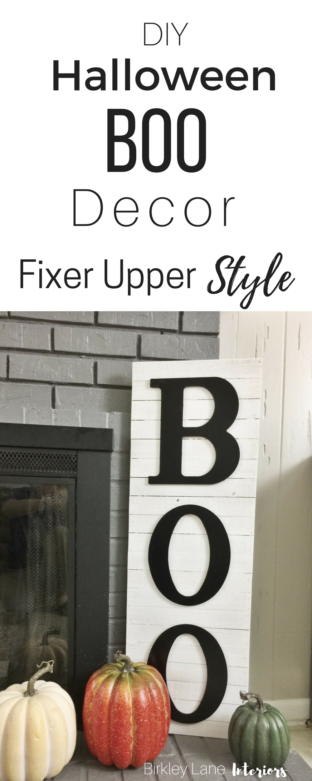 Looking for some elegant Halloween home decor? Get the farmhouse look with this DIY Halloween BOO decor and instantly update your style!