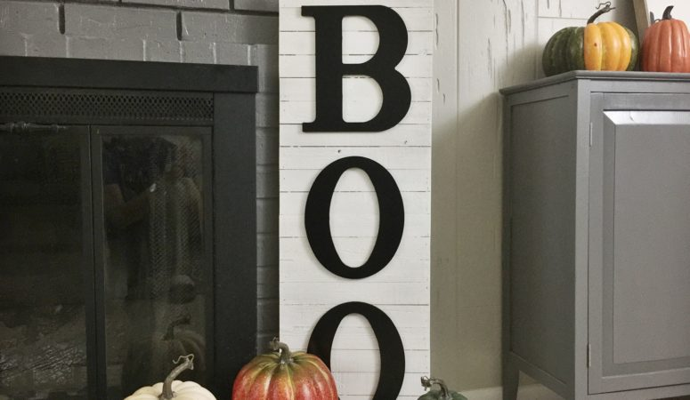 DIY Halloween BOO Decor: Fixer Upper Style