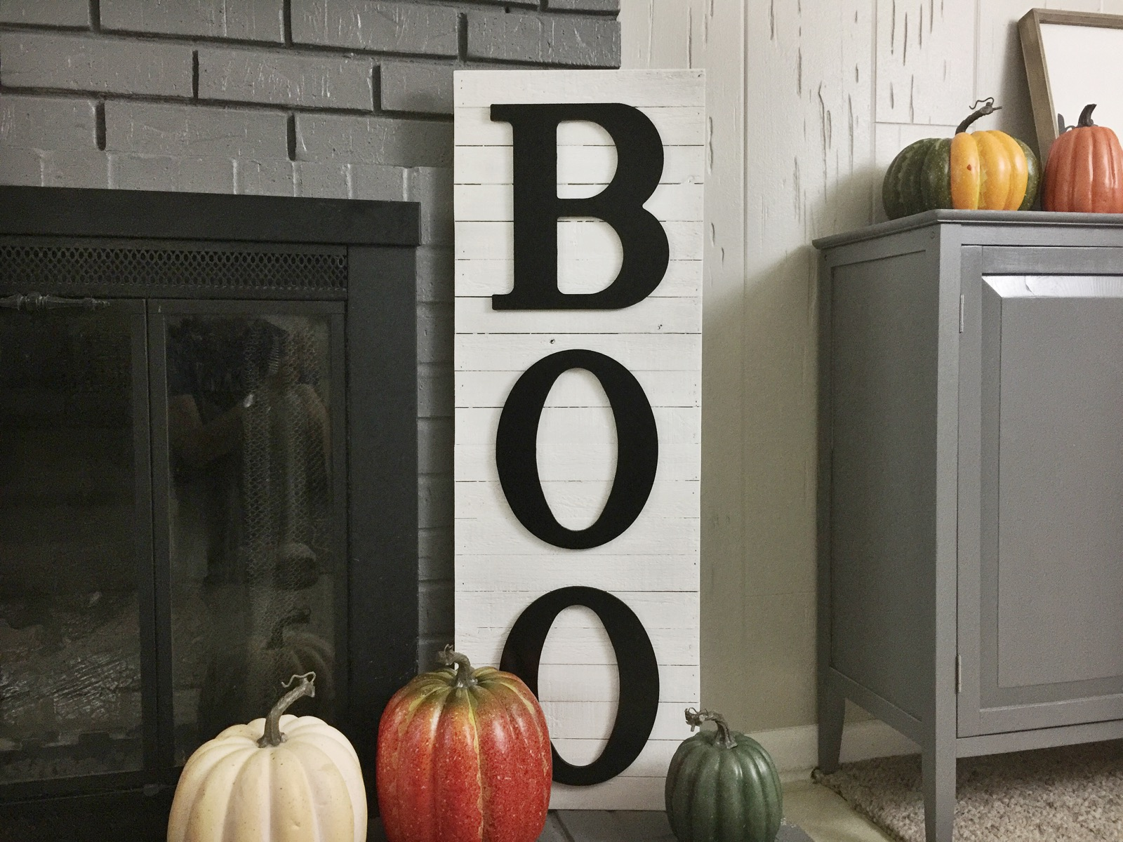 Diy Halloween Boo Decor Fixer Upper Style Birkley Lane