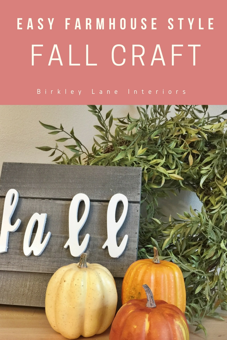 Looking for an easy (+ cute) fall craft?  This fall farmhouse DIY decor idea is your answer!  Perfect for inside or outdoors!  Check out the pictures!  #fall #diy #craft #farmhousedecor