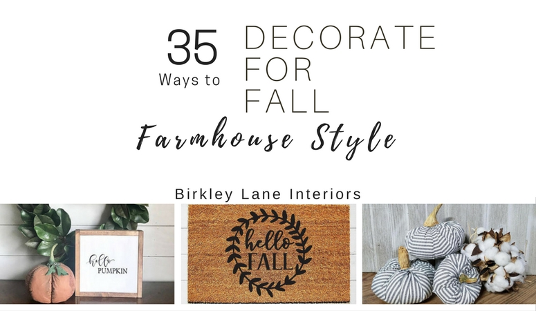 35 Fall Farmhouse Accent Pieces You'll LOVE