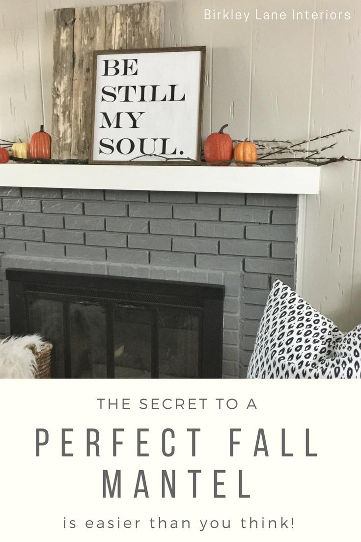 simple fall farmhouse mantle birkley lane interiors