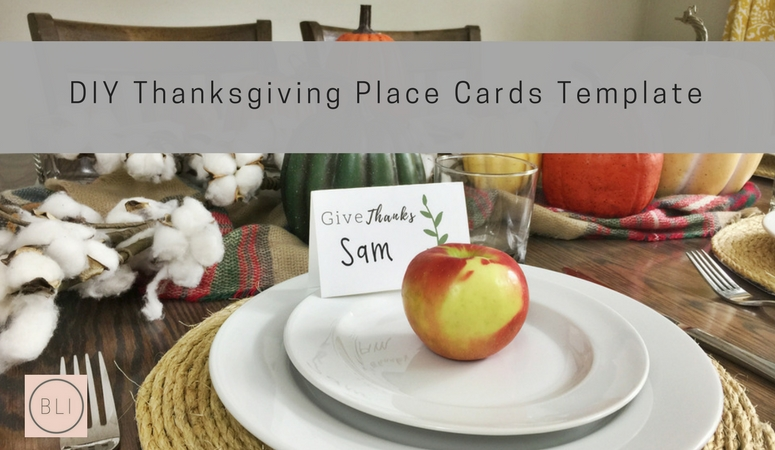 DIY Thanksgiving Place Cards Template
