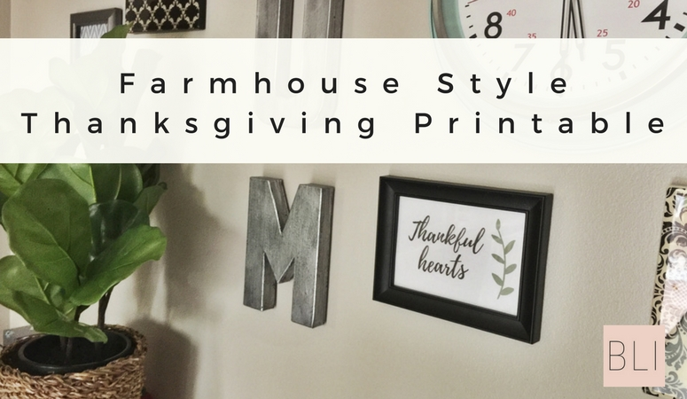 Thanksgiving Decor Printable: Free Template!