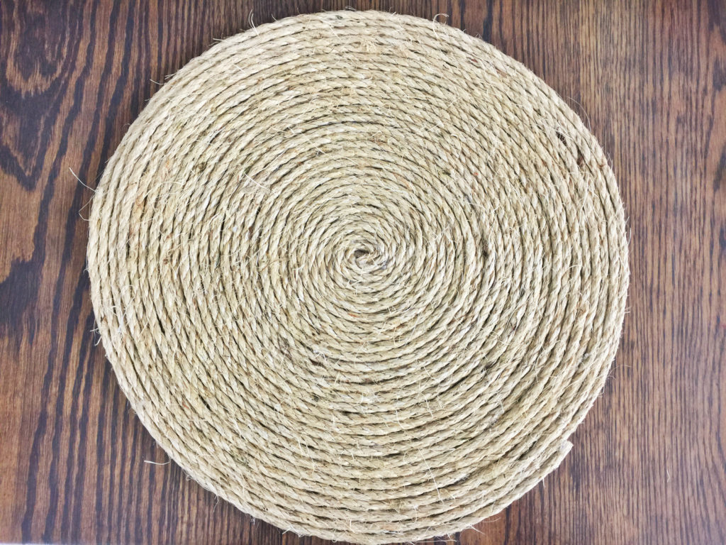 Stop here if you've been wondering how to make a rope charger! Check out my easy tutorial and create your own DIY rope placemat—for much cheaper than buying one! They will add texture and style to any table!