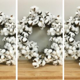 DIY Cotton Wreath HACK