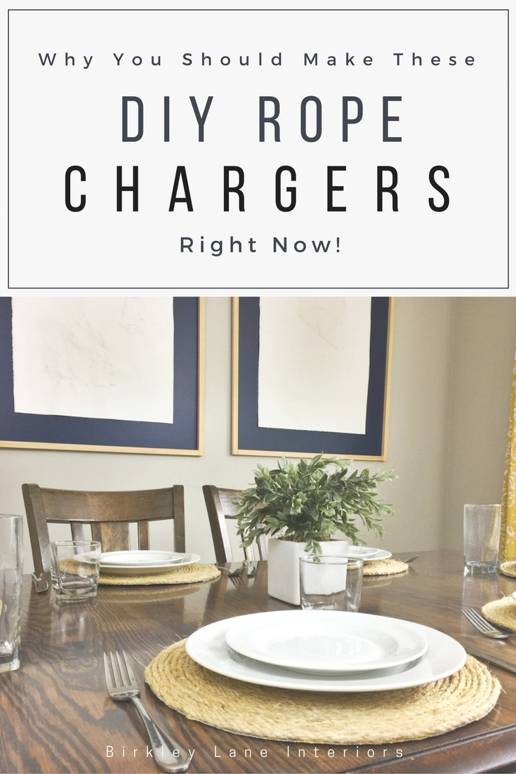 Stop here if you've been wondering how to make a rope charger!  Check out my easy tutorial and create your own DIY rope placemat—for much cheaper than buying one!  They will add texture and style to any table! #diy #tablescape #placemats