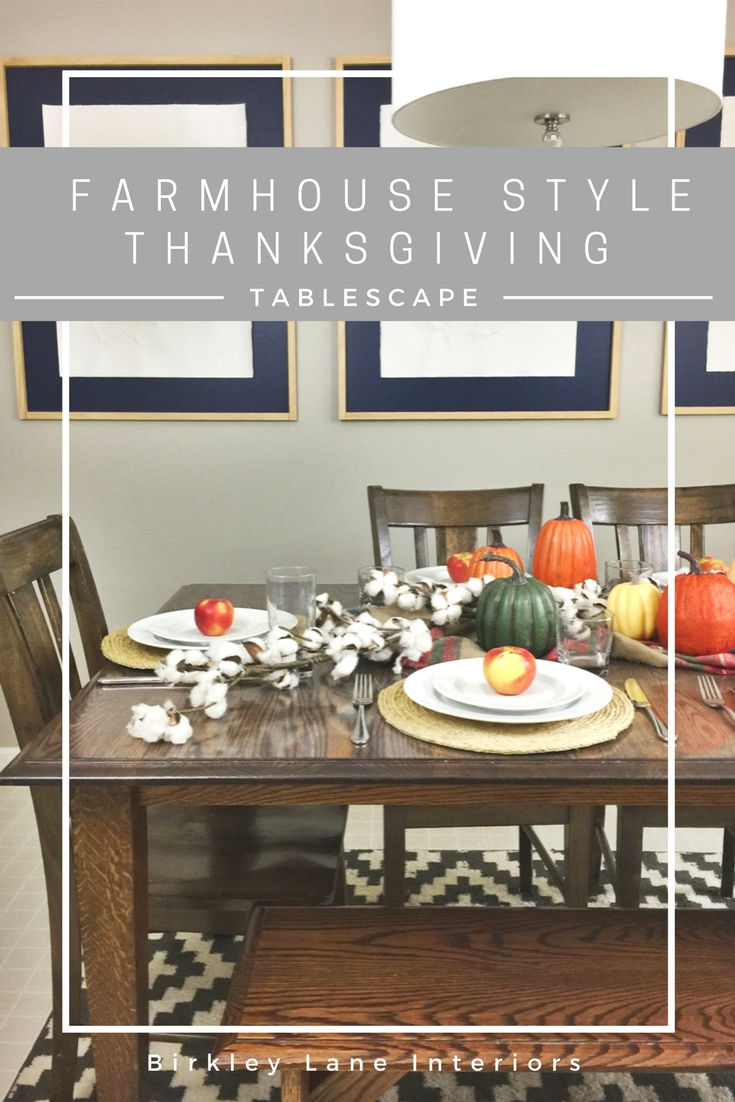 Create a simple and elegant Thanksgiving tablescape this year!  Click here for some beautiful and easy ideas for your Thanksgiving dinner parties! #thanksgiving #tablescape #thanksgivingdinner #farmhouse