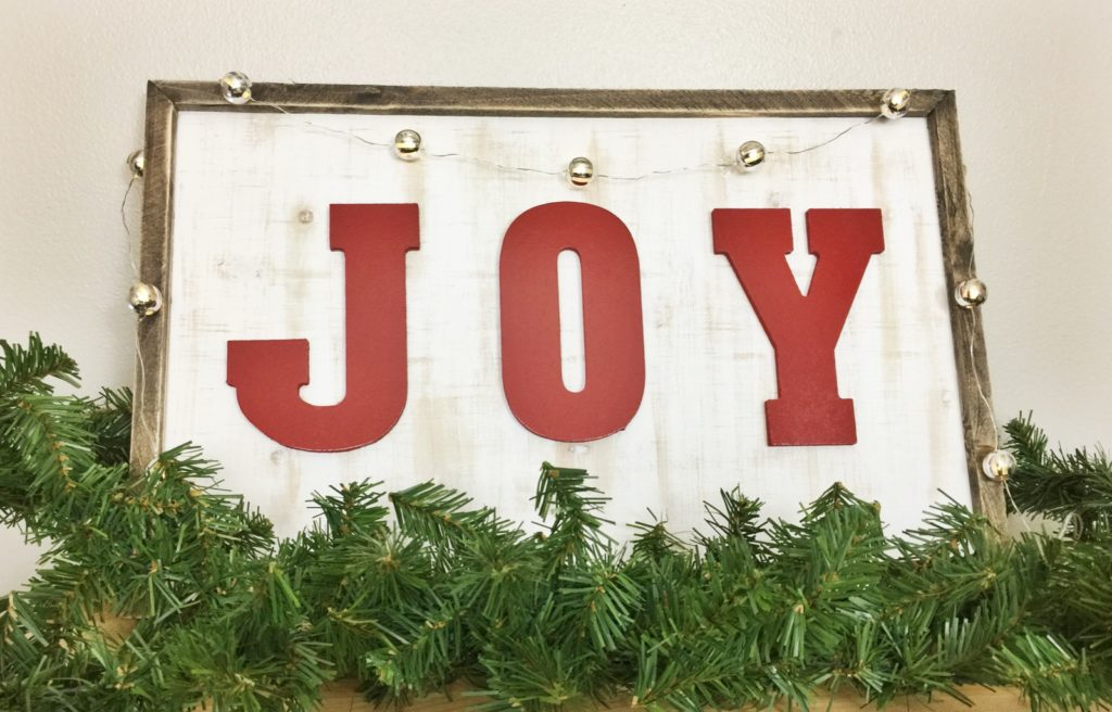 DIY Joy Christmas Sign | Birkley Lane Interiors | All Things Home