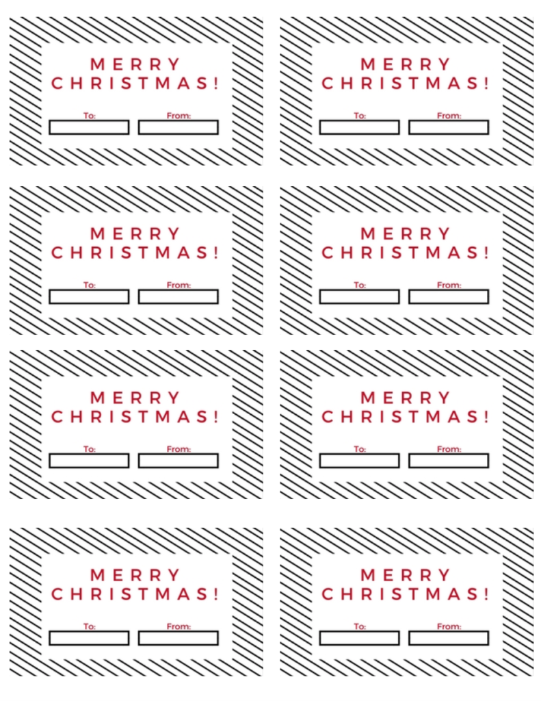 Christmas Gift Tag Free Printable