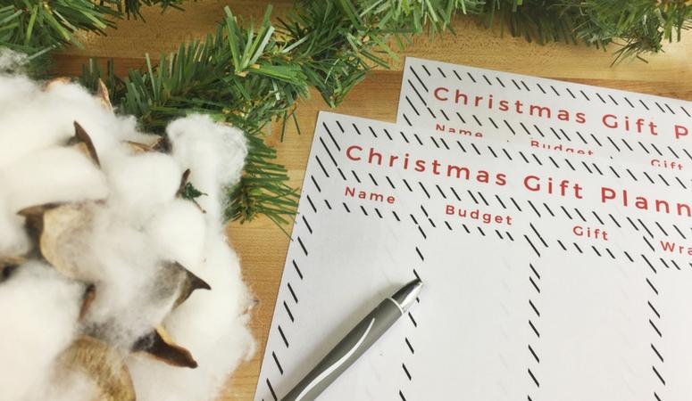 Christmas Gift Planner, Free Printable!