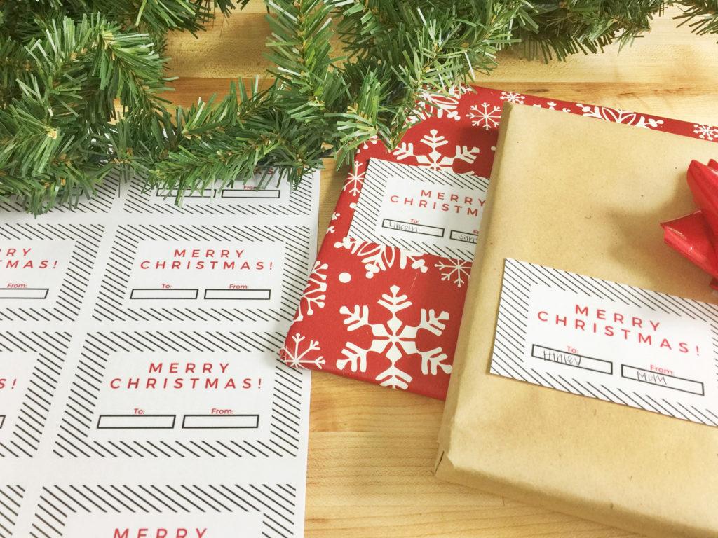 Christmas Gift Tag Free Printable! | Birkley Lane Interiors