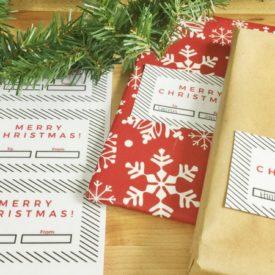 Christmas Gift Tag Free Printable