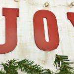 DIY Joy Christmas Sign