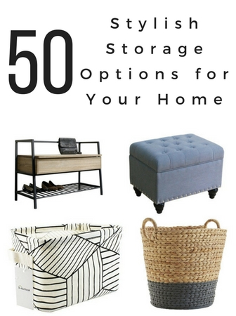 You can be organized and stylish at the same time with these fifty stylish storage options for your home! Click here for ideas for every room in your home! Storage ideas, storage ideas for small spaces, storage ideas for bedrooms, storage bench, storage solutions, stylish storage, organization, organization ideas for the home, organizing ideas, organizing, stylish storage solutions, stylish storage ideas #organization #storage #homedecor #shoppingguide #decoratingtips