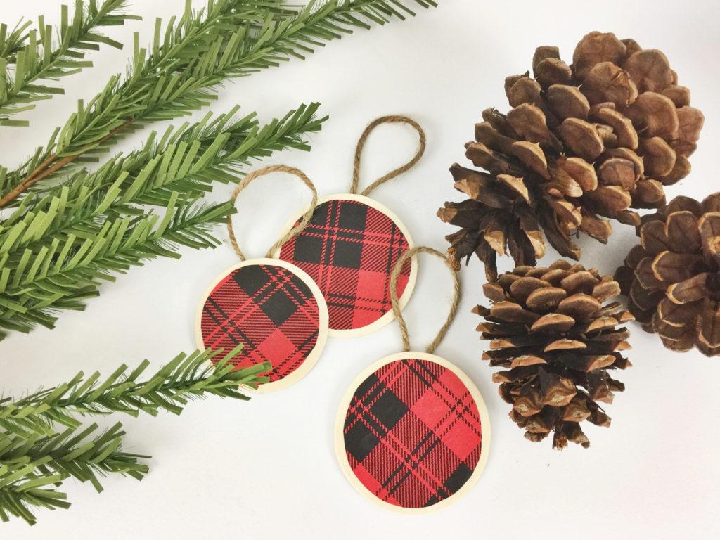 Diy Buffalow Plaid Christmas Ornaments Birkley Lane Interiors