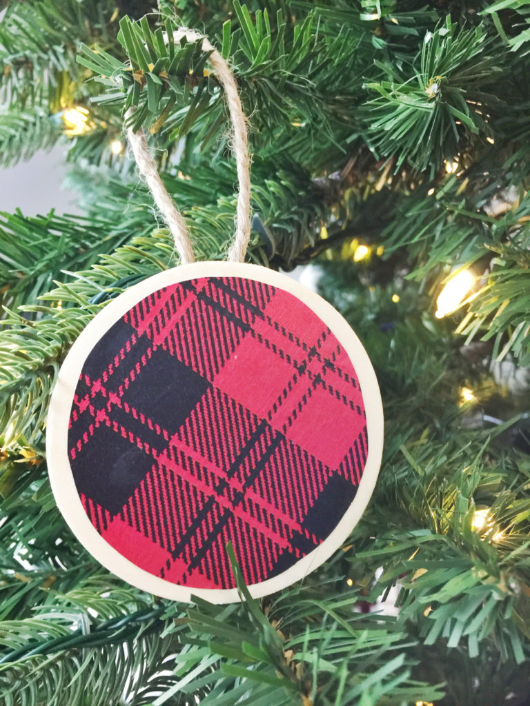create a beautiful buffalo check christmas tree this year by making your own christmas ornaments