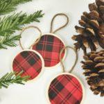 DIY Buffalo Plaid Christmas Ornaments