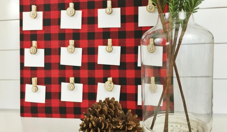 DIY Advent Calendar, Buffalo Plaid