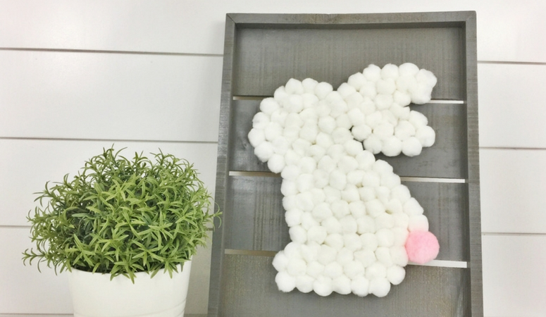 DIY Bunny Pom Pom Craft for Spring