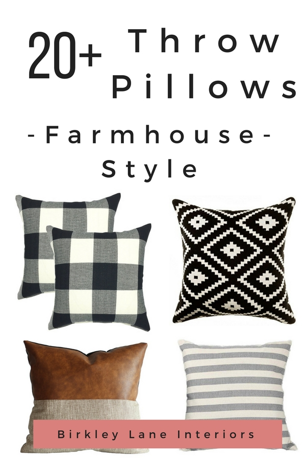 If you love the Fixer Upper style, you are going to love these farmhouse throw pillows and pillow covers!  They are an easy way toadd the farmhouse look to your home decor in an affordable way.