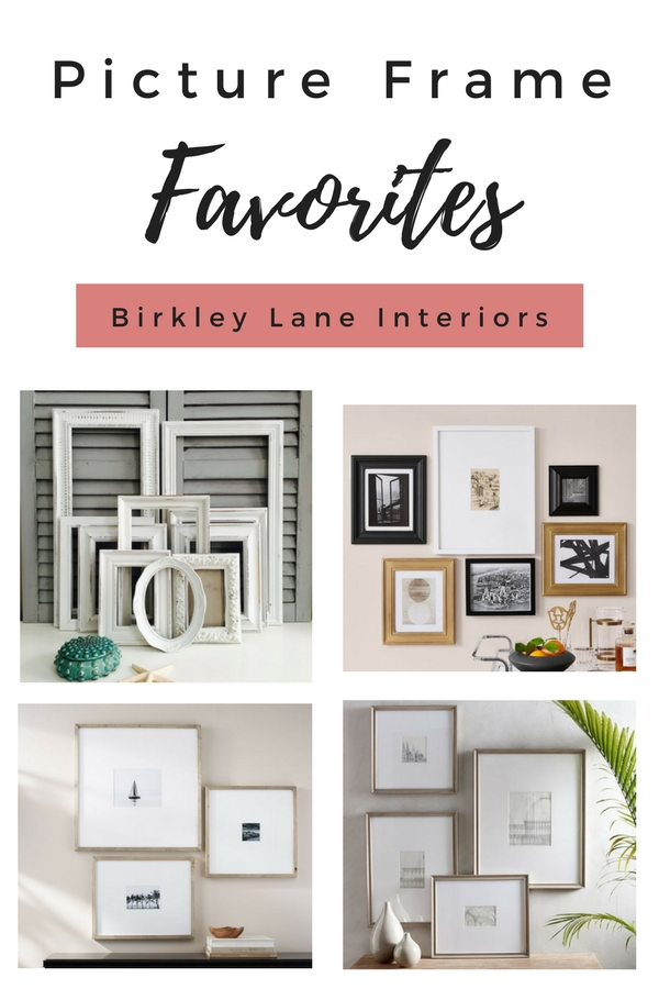 I've gathered the BEST picture frames to decorate your home with!  Whether you're creating a gallery wall or looking for smaller accent pieces, you'll find the perfect picture frames right here!