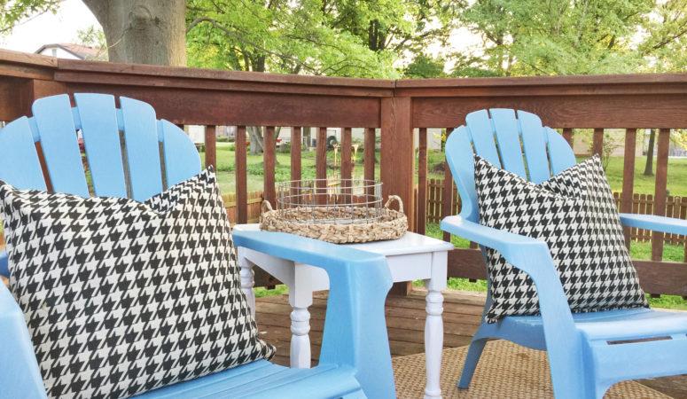 Easiest Ever Diy Outdoor Pillows Birkley Lane Interiors